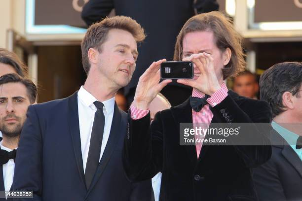 Director Wes Anderson and actor Edward Norton attend the Opening Ceremony and 'Moonrise Kingdom' Premiere during the 65th Annual Cannes Film Festival...