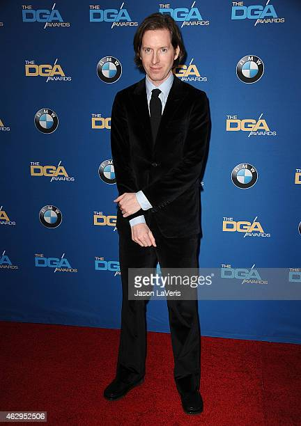Director Wes Anderson attends the 67th annual Directors Guild of America Awards at the Hyatt Regency Century Plaza on February 7 2015 in Los Angeles...