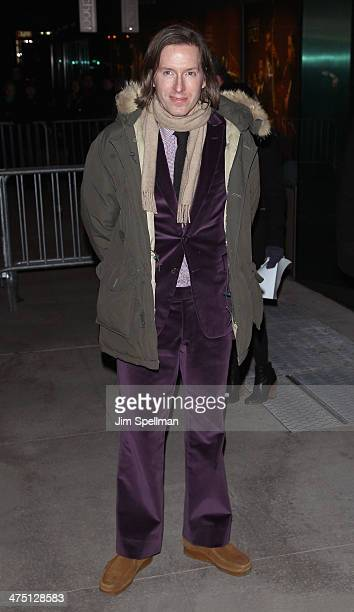 Director Wes Anderson attends the 'The Grand Budapest Hotel' New York Premiere at Alice Tully Hall on February 26 2014 in New York City
