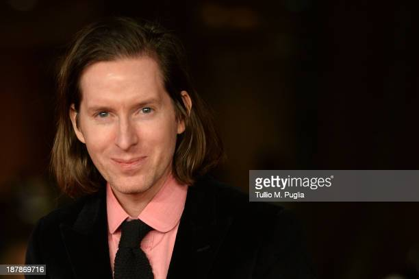 Director Wes Anderson attends Wes Anderson And Roman Coppola On The Red Carpet during The 8th Rome Film Festival at Auditorium Parco Della Musica on...