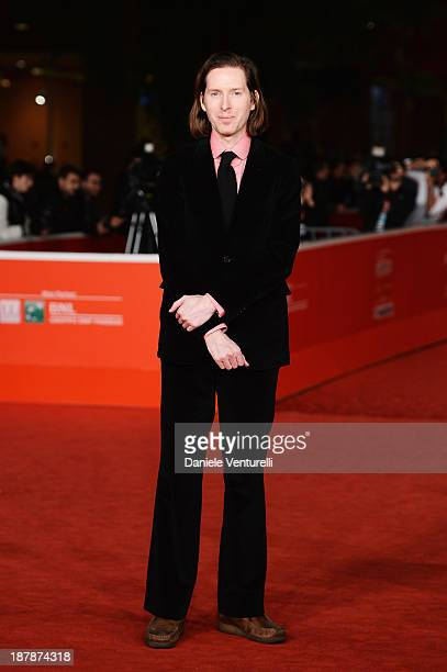 Director Wes Anderson on The Red Carpet during The 8th Rome Film Festival on November 13 2013 in Rome Italy