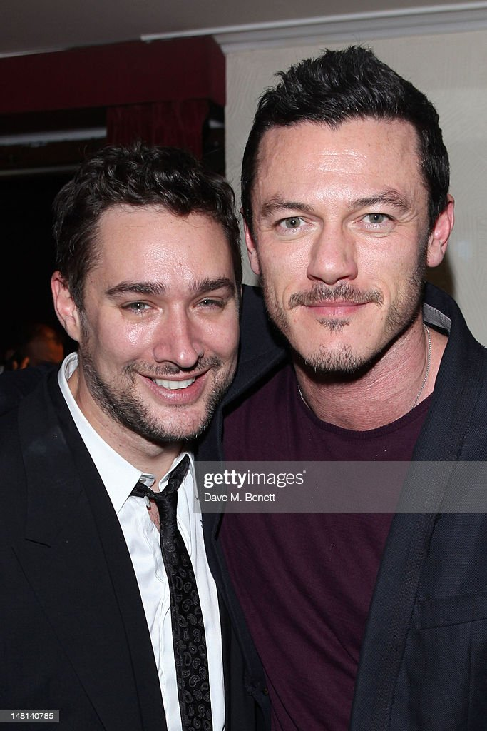 Director William Baker and actor Luke Evans attend the 'The Hurly Burly Show' press night on July 10, 2012 on London, England.