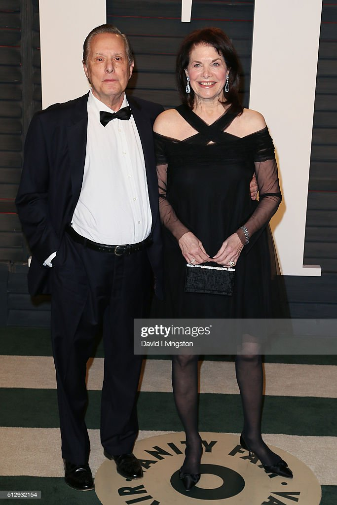 Director William Friedkin (L) and producer Sherry Lansing arrive at the 2016 Vanity Fair Oscar Party Hosted by Graydon Carter at the Wallis Annenberg Center for the Performing Arts on February 28, 2016 in Beverly Hills, California.