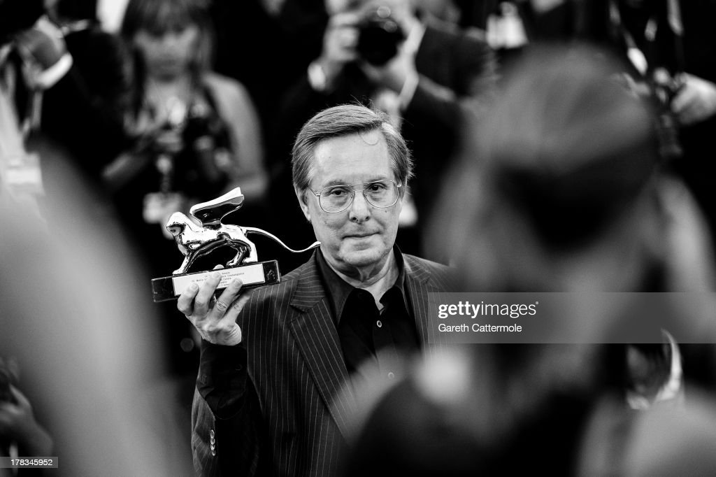 Director <a gi-track='captionPersonalityLinkClicked' href=/galleries/search?phrase=William+Friedkin&family=editorial&specificpeople=626545 ng-click='$event.stopPropagation()'>William Friedkin</a> poses with his 'Leono d'Oro alla Carriera' prize at the Lifetime Achievement Award ceremony during the 70th Venice International Film Festival on August 29, 2013 in Venice, Italy..