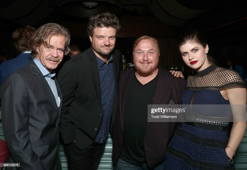 Director William H. Macy, Matt jones, Producer Keith Kjarval and Alexandra Daddario attend the after party for the premiere of DIRECTV And Vertical Entertainment's 'The Layover' on August 23, 2017 in Hollywood, California.