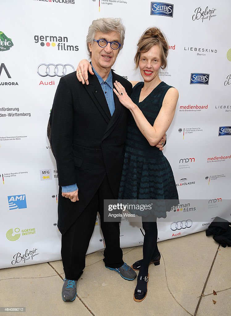 Director Wim Wenders and Donata Wenders attend the German Films and the Consulate General of the Federal Republic Of Germany's German Oscar nominees...