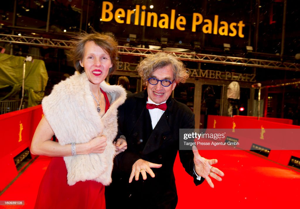 Director <a gi-track='captionPersonalityLinkClicked' href=/galleries/search?phrase=Wim+Wenders&family=editorial&specificpeople=208675 ng-click='$event.stopPropagation()'>Wim Wenders</a> and his wife Donata attend the premiere of 'The Grandmaster' during the 63rd Berlinale International Film Festival at the Berlinale Palast on February 7, 2013 in Berlin, Germany.