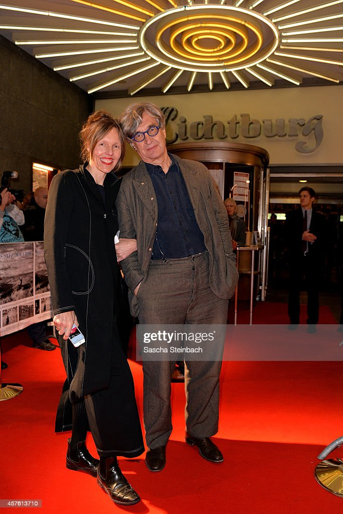 Director Wim Wenders and his wife Donata attend the premiere of the film 'Das Salz der Erde' at Lichtburg on October 21 2014 in Essen Germany