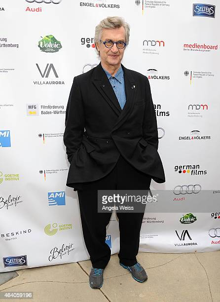 Director Wim Wenders attends the German Films and the Consulate General of the Federal Republic Of Germany's German Oscar nominees reception at Villa...