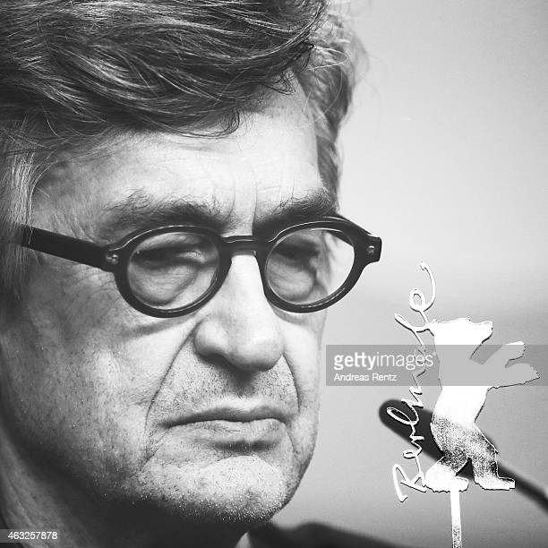 Director Wim Wenders attends the 'Honorary Golden Bear' press conference during the 65th Berlinale International Film Festival at Grand Hyatt Hotel...