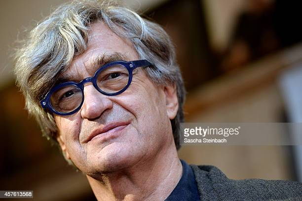 Director Wim Wenders attends the premiere of the film 'Das Salz der Erde' at Lichtburg on October 21 2014 in Essen Germany