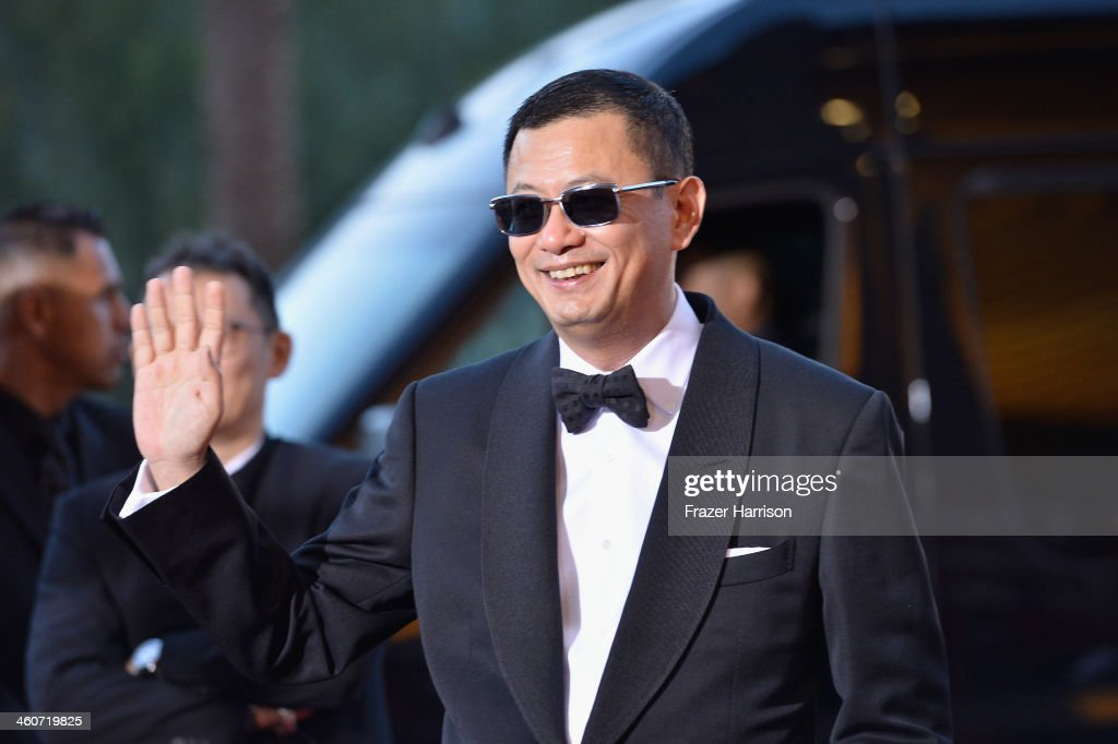 Director Wong Kar Wai arrives at the 25th Annual Palm Springs International Film Festival Awards Gala at Palm Springs Convention Center on January 4, 2014 in Palm Springs, California.