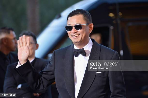 Director Wong Kar Wai arrives at the 25th Annual Palm Springs International Film Festival Awards Gala at Palm Springs Convention Center on January 4...