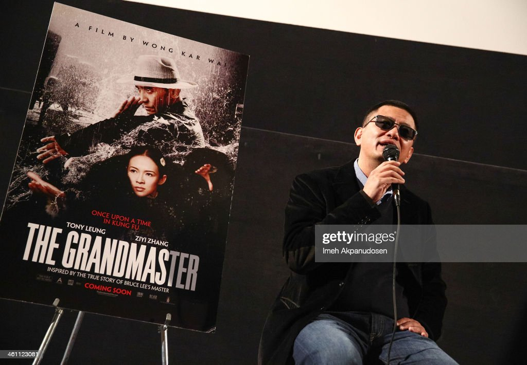 Director Wong Kar-wai speaks during a Q&A following the screening of 'The Grandmaster' at American Cinematheque's Egyptian Theatre on January 6, 2014 in Hollywood, California.