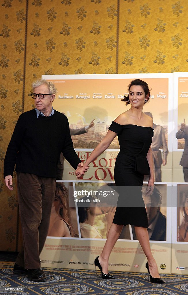 Director <a gi-track='captionPersonalityLinkClicked' href=/galleries/search?phrase=Woody+Allen&family=editorial&specificpeople=202886 ng-click='$event.stopPropagation()'>Woody Allen</a> and actress Penelope Cruz attend 'To Rome With Love' photocall at Hotel Parco dei Principi on April 13, 2012 in Rome, Italy.