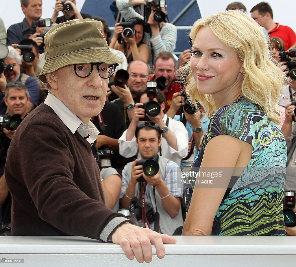 US director Woody Allen and British-born Australian actress Naomi Watts pose during the photocall of 'You Will Meet a Tall Dark Stranger' presented out of competition at the 63rd Cannes Film Festival on May 15, 2010 in Cannes.
