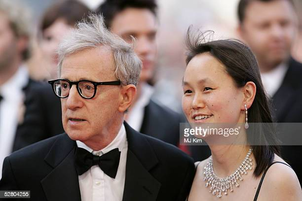 Director Woody Allen and his wife SoonYi Previn attend the premiere of the film 'Match Point' at the Palais during the 58th International Cannes Film...