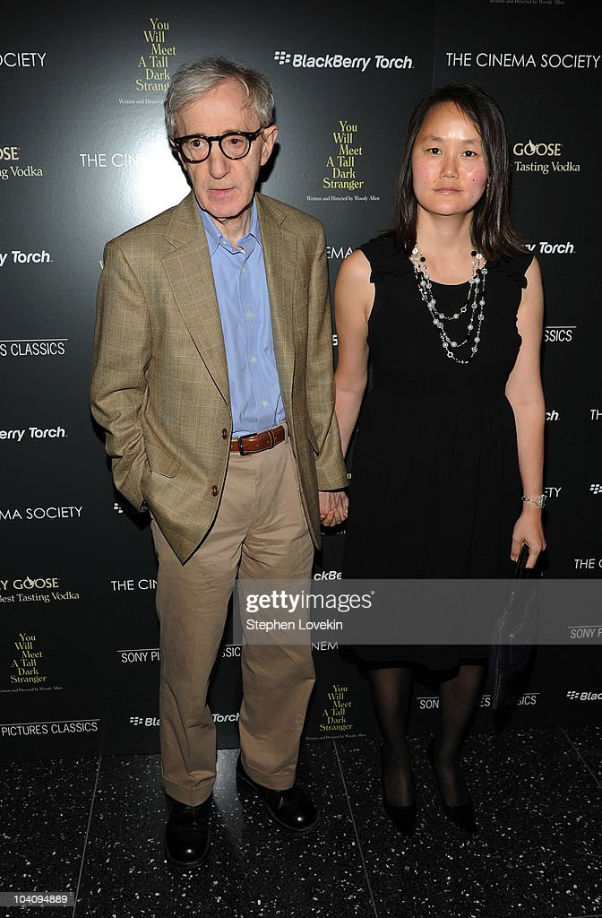 Director Woody Allen and SoonYi Previn attend the screening of 'You Will Meet a Tall Dark Stranger' hosted by The Cinema Society and BlackBerry Torch...