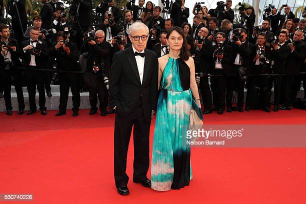 Director Woody Allen and wife SoonYi Previn attend the 'Cafe Society' premiere and the Opening Night Gala during the 69th annual Cannes Film Festival...