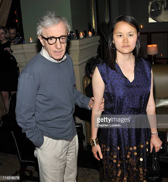Director Woody Allen and wife SoonYi Previn attend The Cinema Society Thierry Mugler screening after party for 'Midnight in Paris' at the Soho Grand...