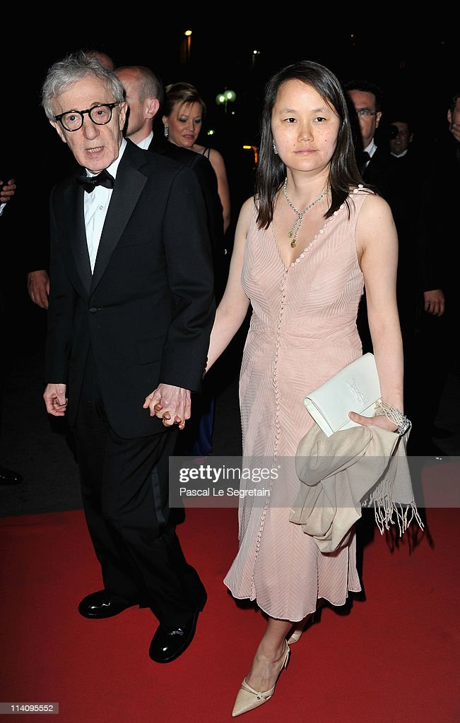 Director Woody Allen and wife Soon-Yi Previn attend the opening night dinner during the 64th Annual Cannes Film Festival at Palais des Festivals on May 11, 2011 in Cannes, France.