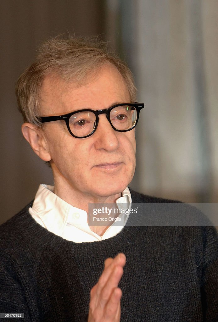 Director Woody Allen attends a photocall to promote his new film 'Match Point' at the Hasler Hotel on December 21, 2005 in Rome, Italy.