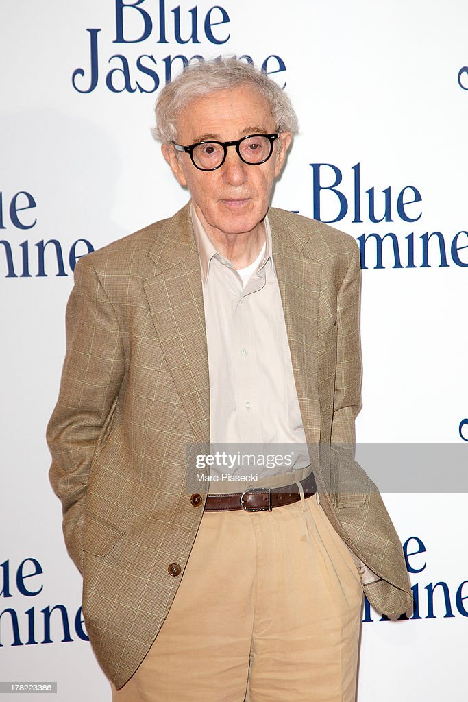 Director <a gi-track='captionPersonalityLinkClicked' href=/galleries/search?phrase=Woody+Allen&family=editorial&specificpeople=202886 ng-click='$event.stopPropagation()'>Woody Allen</a> attends the 'Blue Jasmine' Paris premiere at UGC Cine Cite Bercy on August 27, 2013 in Paris, France.