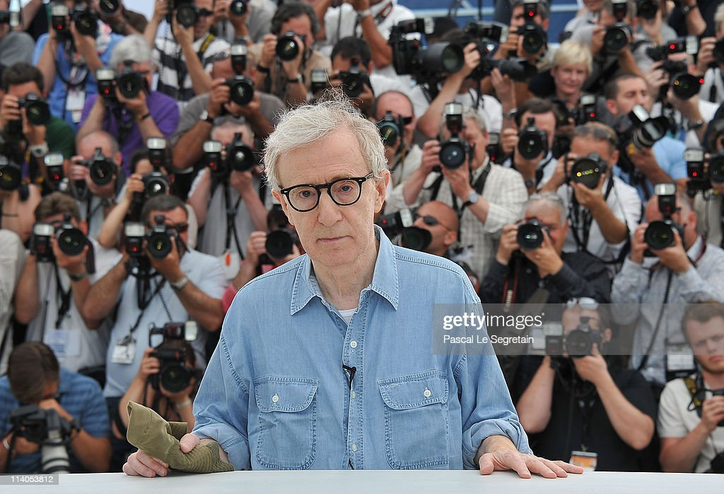 Director <a gi-track='captionPersonalityLinkClicked' href=/galleries/search?phrase=Woody+Allen&family=editorial&specificpeople=202886 ng-click='$event.stopPropagation()'>Woody Allen</a> attends the 'Midnight In Paris' photocall at the Palais des Festivals during the 64th Cannes Film Festival on May 11, 2011 in Cannes, France.