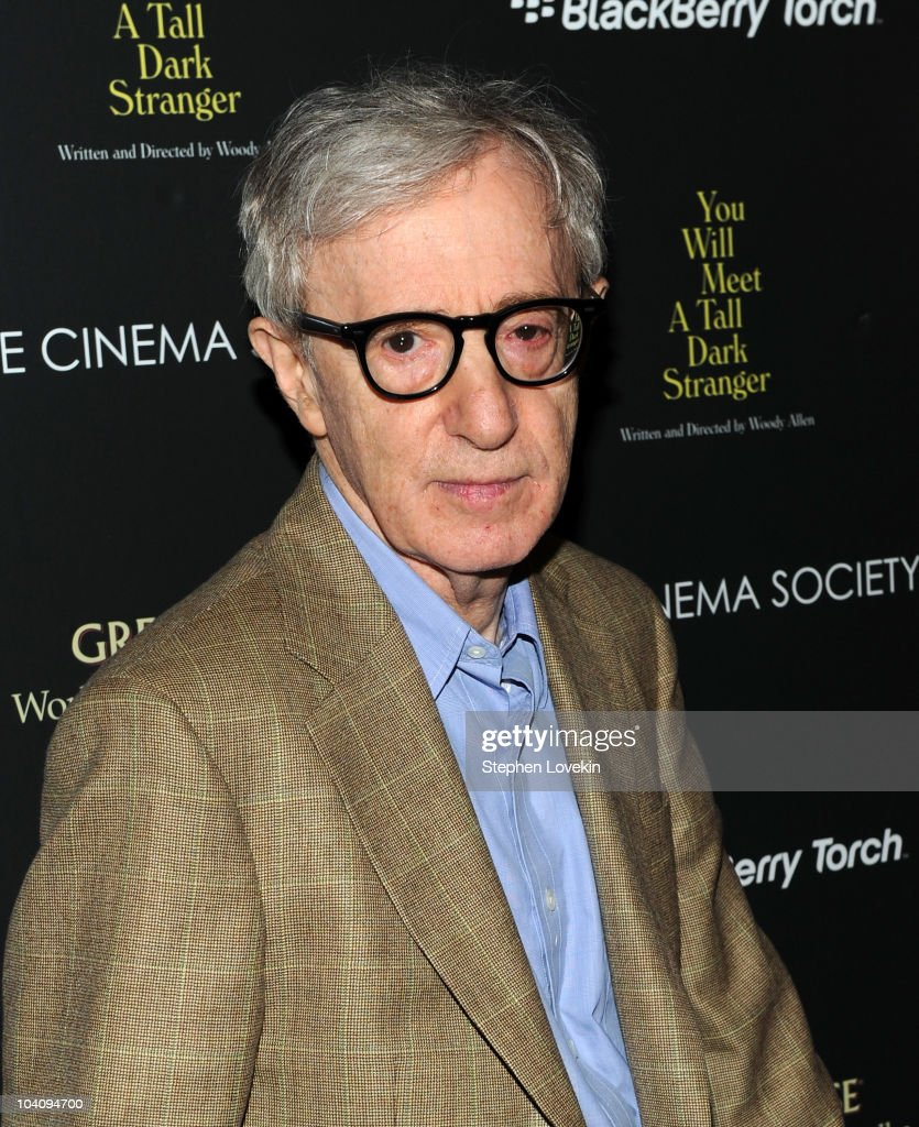 Director Woody Allen attends the screening of 'You Will Meet a Tall Dark Stranger' hosted by The Cinema Society and BlackBerry Torch at MOMA on...
