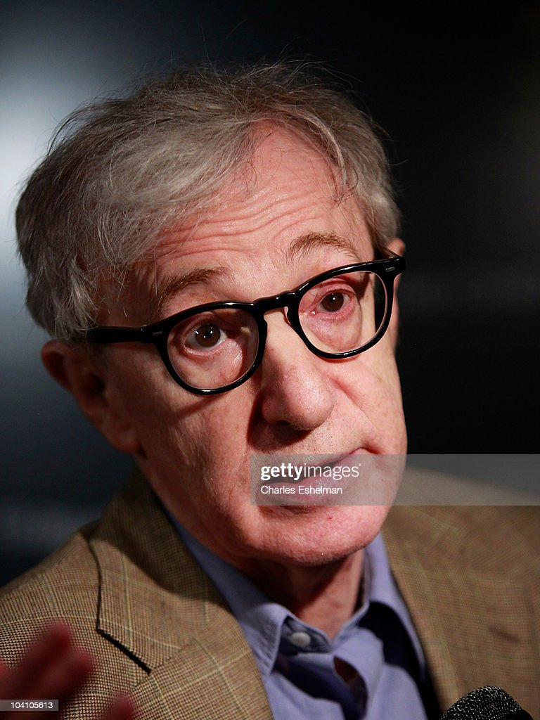 Director Woody Allen attends the The Cinema Society Blackberry Torch host a screening of 'You Will Meet a Tall Dark Stranger' at MoMA on September 14...