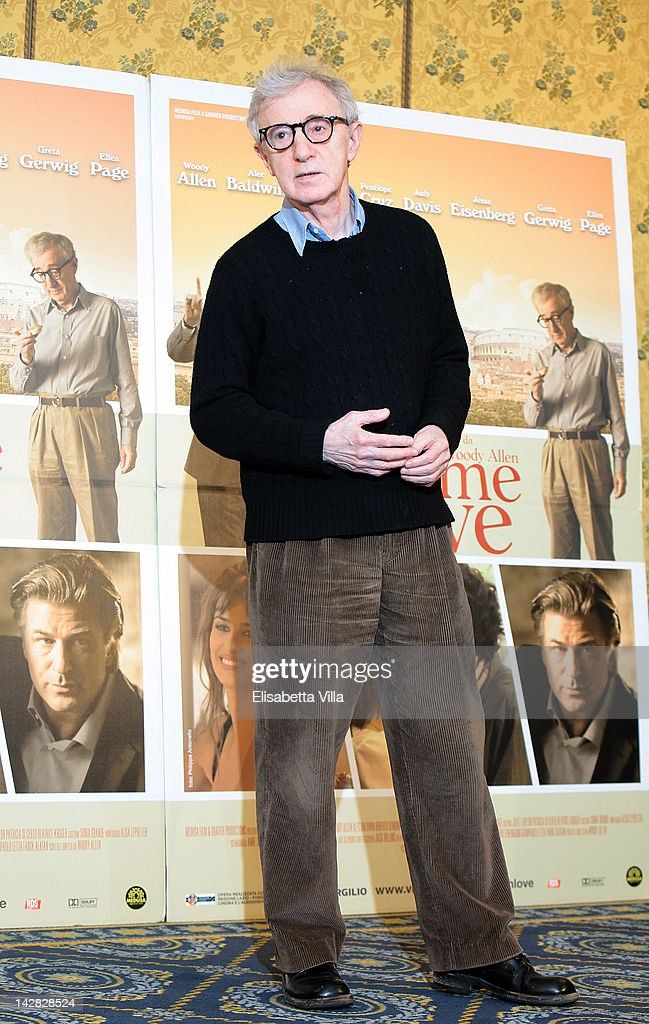 Director <a gi-track='captionPersonalityLinkClicked' href=/galleries/search?phrase=Woody+Allen&family=editorial&specificpeople=202886 ng-click='$event.stopPropagation()'>Woody Allen</a> attends 'To Rome With Love' photocall at Hotel Parco dei Principi on April 13, 2012 in Rome, Italy.