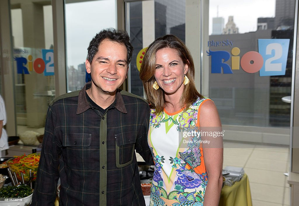 Director / Writer Carlos Saldanha and Natalie Morales attends the 'Rio 2' special screening after party at Le Parker Meridien on March 30 2014 in New...