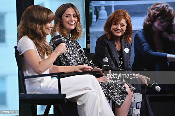 Director/ writer Lorene Scafaria actress Rose Byrne and actress Susan Sarandon discuss their comedydrama film 'The Meddler' during AOL Build Speaker...