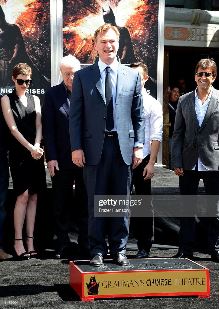 Director, Writer, Producer <a gi-track='captionPersonalityLinkClicked' href=/galleries/search?phrase=Christopher+Nolan&family=editorial&specificpeople=235975 ng-click='$event.stopPropagation()'>Christopher Nolan</a>, honored with Hand and Footprint Ceremony at Grauman's Chinese Theatre on July 7, 2012 in Hollywood, California.