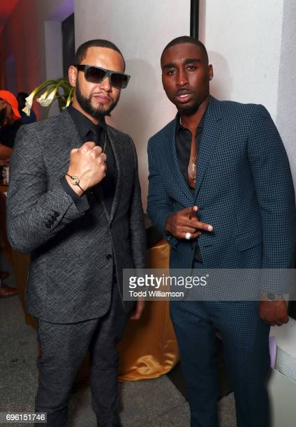 Director X and actor Demetrius Shipp Jr at the 'ALL EYEZ ON ME' Premiere at Westwood Village Theatre on June 14 2017 in Westwood California