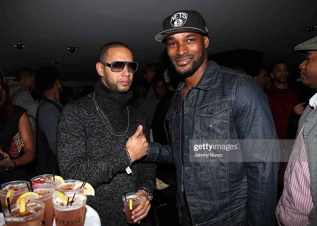 Director X and <a gi-track='captionPersonalityLinkClicked' href=/galleries/search?phrase=Tyson+Beckford&family=editorial&specificpeople=210873 ng-click='$event.stopPropagation()'>Tyson Beckford</a> attend Rihanna's 'Unapologetic' Record Release Party at 40 / 40 Club on November 20, 2012 in New York City.