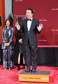 Xixi Gao Hand And Footprint Ceremony At TCL Chinese...