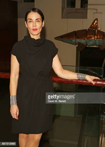 Director Yael Farber attends the press night after party of 'Knives In Hens' at The Hospital Club on August 22 2017 in London England