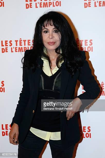 Director Yamina Benguigui attends 'Les Tetes de l''Emploi' Paris Premiere at Cinema Gaumont Opera Capucines on November 14 2016 in Paris France