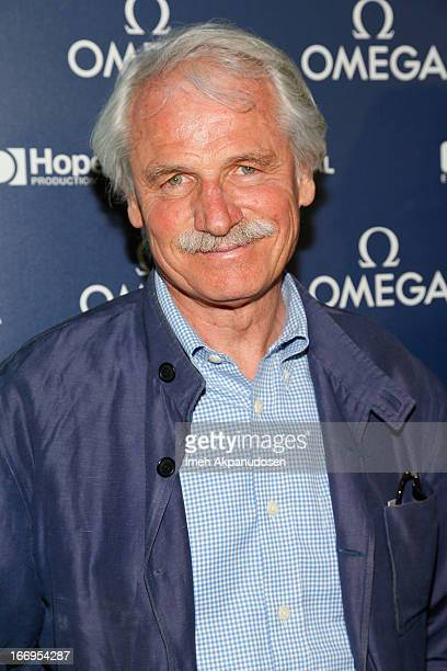 Director Yann ArthusBertrand attends the premiere of 'Planet Ocean' at Pacific Design Center on April 18 2013 in West Hollywood California