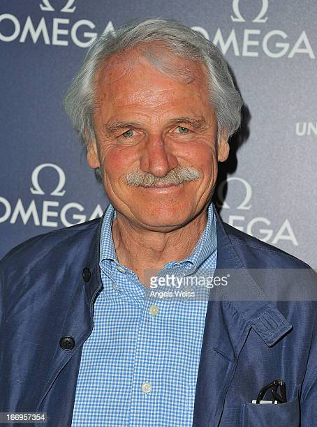 Director Yann ArthusBertrand attends the US launch of 'Planet Ocean' presented by Omega Watches at Pacific Design Center on April 18 2013 in West...