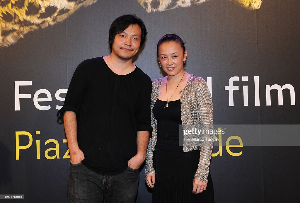 Director Ying Liang and An Nai poses attend the winners red carpet during the 65th Locarno Film Festival on August 11, 2012 in Locarno, Switzerland.