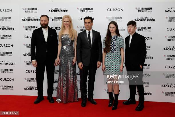 Director Yorgos Lanthimos actors Nicole Kidman Colin Farrell Barry Keoghan and Raffey Cassidy attend the Headline Gala Screening UK Premiere of...