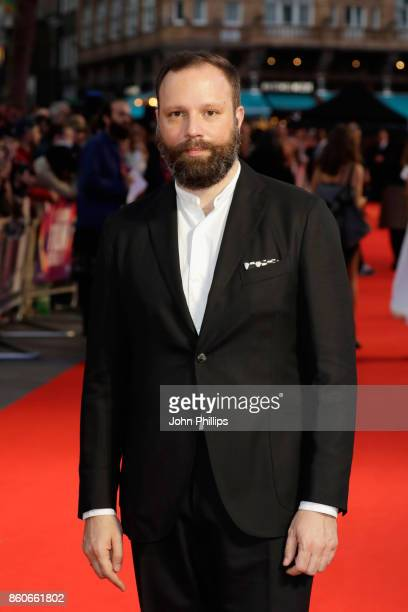 Director Yorgos Lanthimos attends the Headline Gala Screening UK Premiere of 'Killing of a Sacred Deer' during the 61st BFI London Film Festival on...