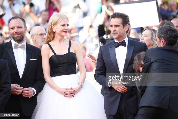 Director Yorgos Lanthimos Colin Farrell and Nicole Kidman attend 'The Killing Of A Sacred Deer' premiere during the 70th annual Cannes Film Festival...