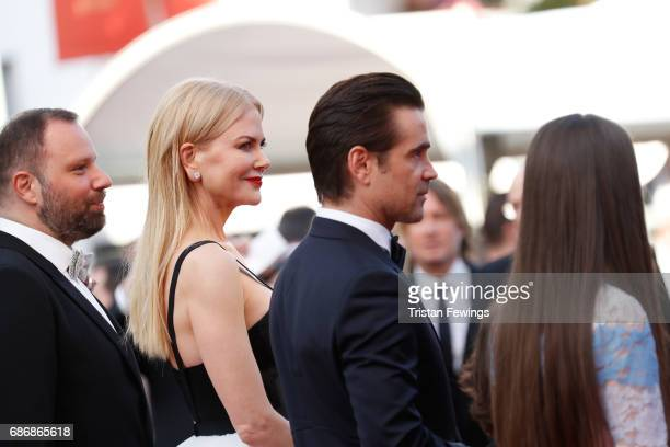 Director Yorgos Lanthimos Nicole Kidman Colin Farrell and Raffey Cassidy attend 'The Killing Of A Sacred Deer' premiere during the 70th annual Cannes...
