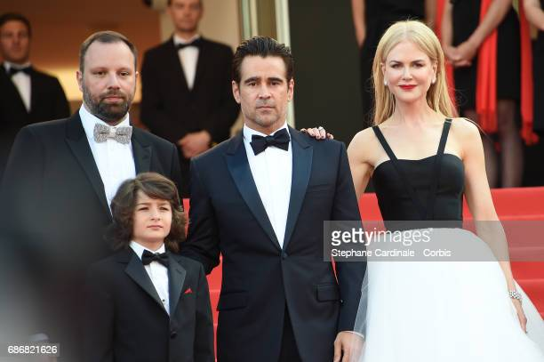 Director Yorgos Lanthimos Sunny Suljic Colin Farrell and Nicole Kidman attend 'The Killing Of A Sacred Deer' premiere during the 70th annual Cannes...