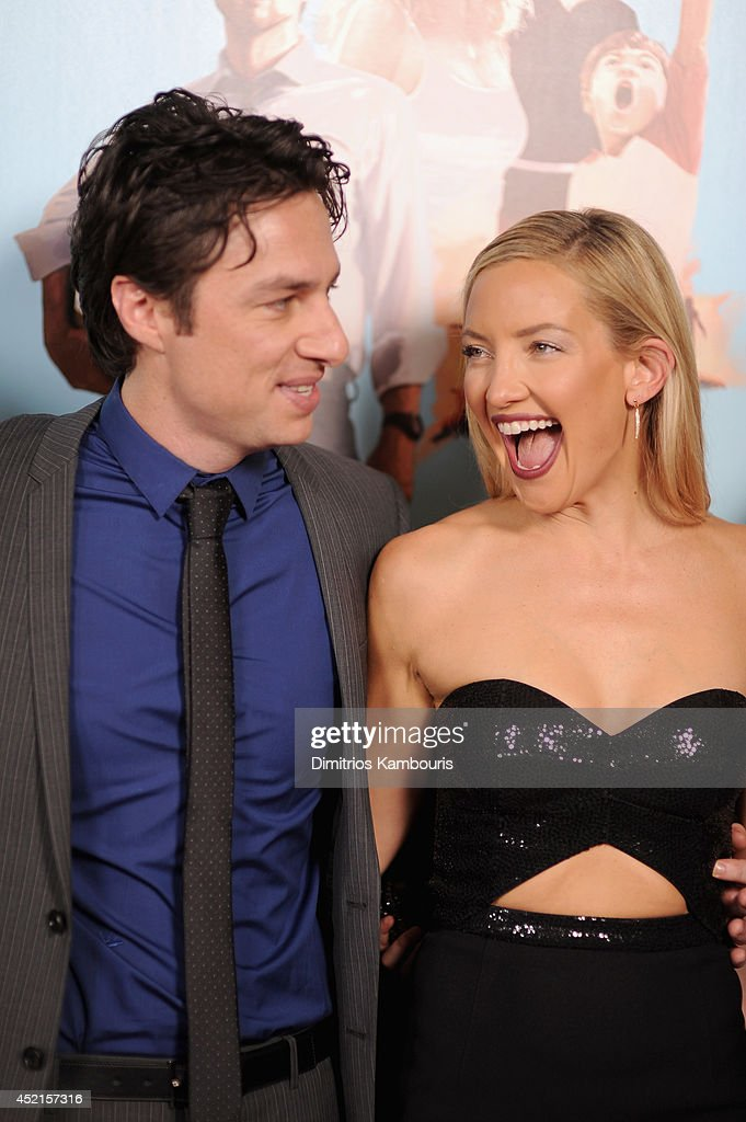 Director <a gi-track='captionPersonalityLinkClicked' href=/galleries/search?phrase=Zach+Braff&family=editorial&specificpeople=203253 ng-click='$event.stopPropagation()'>Zach Braff</a> (L) and actress <a gi-track='captionPersonalityLinkClicked' href=/galleries/search?phrase=Kate+Hudson&family=editorial&specificpeople=156407 ng-click='$event.stopPropagation()'>Kate Hudson</a> attend the 'Wish I Was Here' screening at AMC Lincoln Square Theater on July 14, 2014 in New York City.