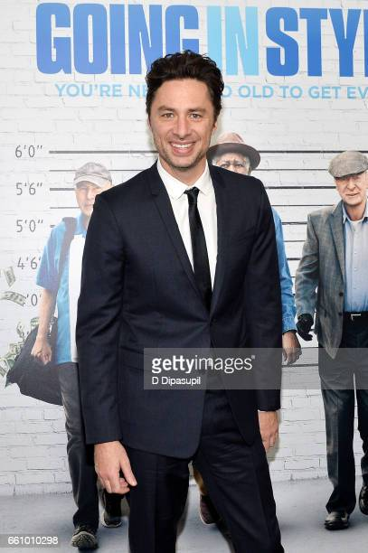 Director Zach Braff attends the 'Going in Style' New York premiere at SVA Theatre on March 30 2017 in New York City