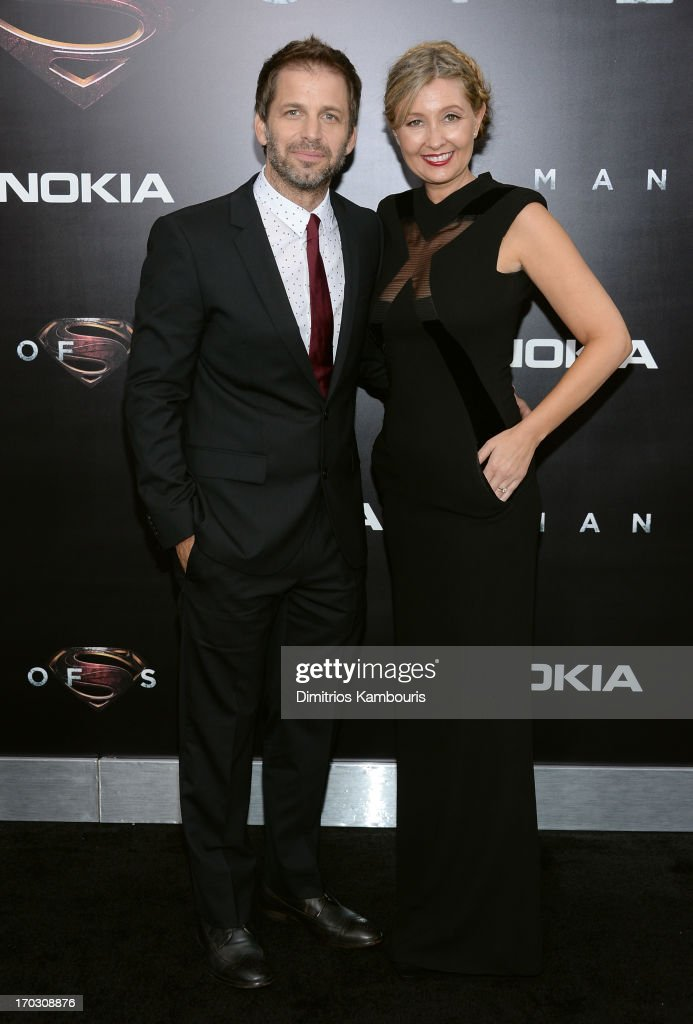 Director <a gi-track='captionPersonalityLinkClicked' href=/galleries/search?phrase=Zack+Snyder&family=editorial&specificpeople=834481 ng-click='$event.stopPropagation()'>Zack Snyder</a> (L) and Deborah Snyder attend the 'Man Of Steel' world premiere at Alice Tully Hall at Lincoln Center on June 10, 2013 in New York City.